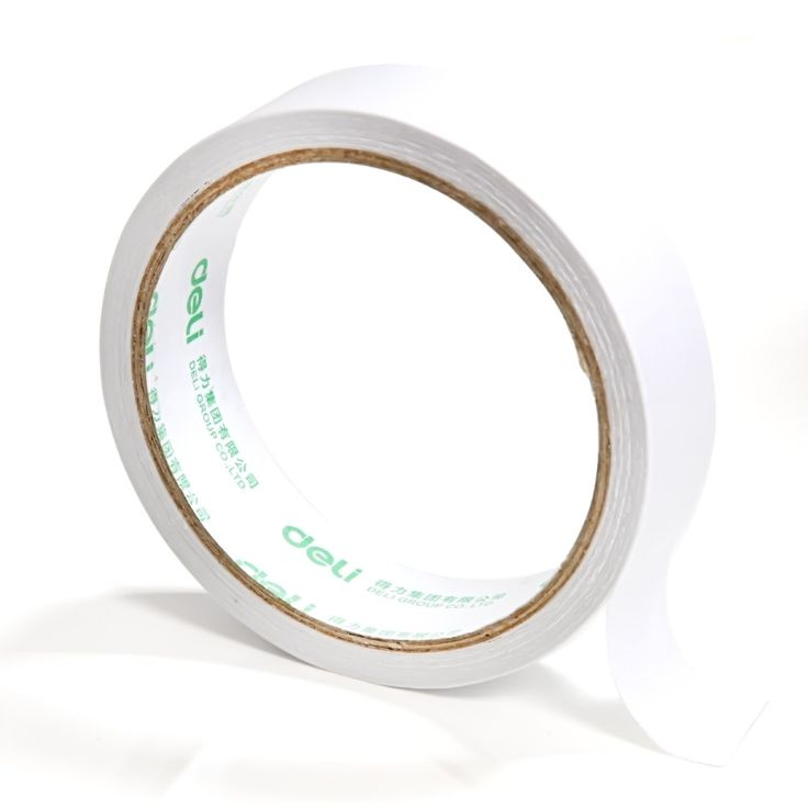 1 Roll 24mm x 10 Yard Double Sided Adhesive Tape Strong Glue Sticker Office Stationery Supplies Deli 30403