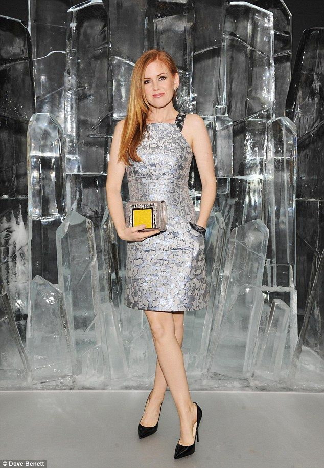 Isla Fisher wowed in a sliver mini dress atthe launch of Jimmy Choo's new VICES collection in London http://dailym.ai/1w225Kb