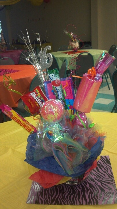 Sweet centerpieces candy bouquet ideas pinterest