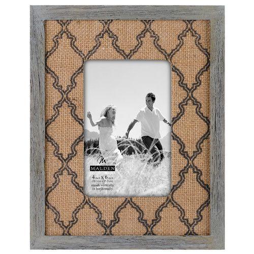 Found it at Wayfair - Burlap Mat Picture Frame