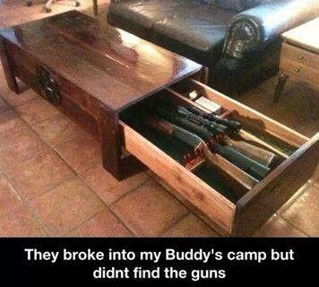 i want a gun drawer like that!!