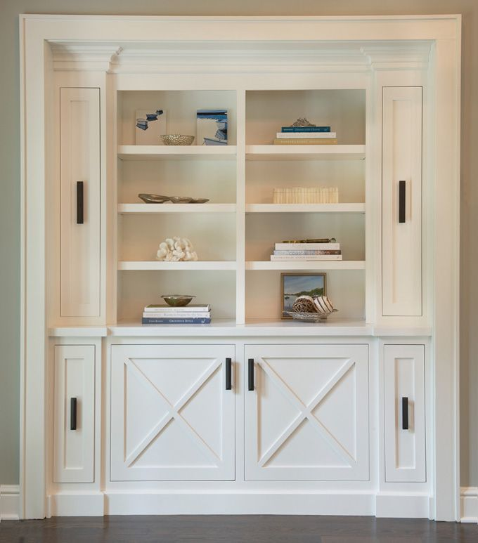 25 best ideas about white built ins on pinterest built for Media room built in cabinets