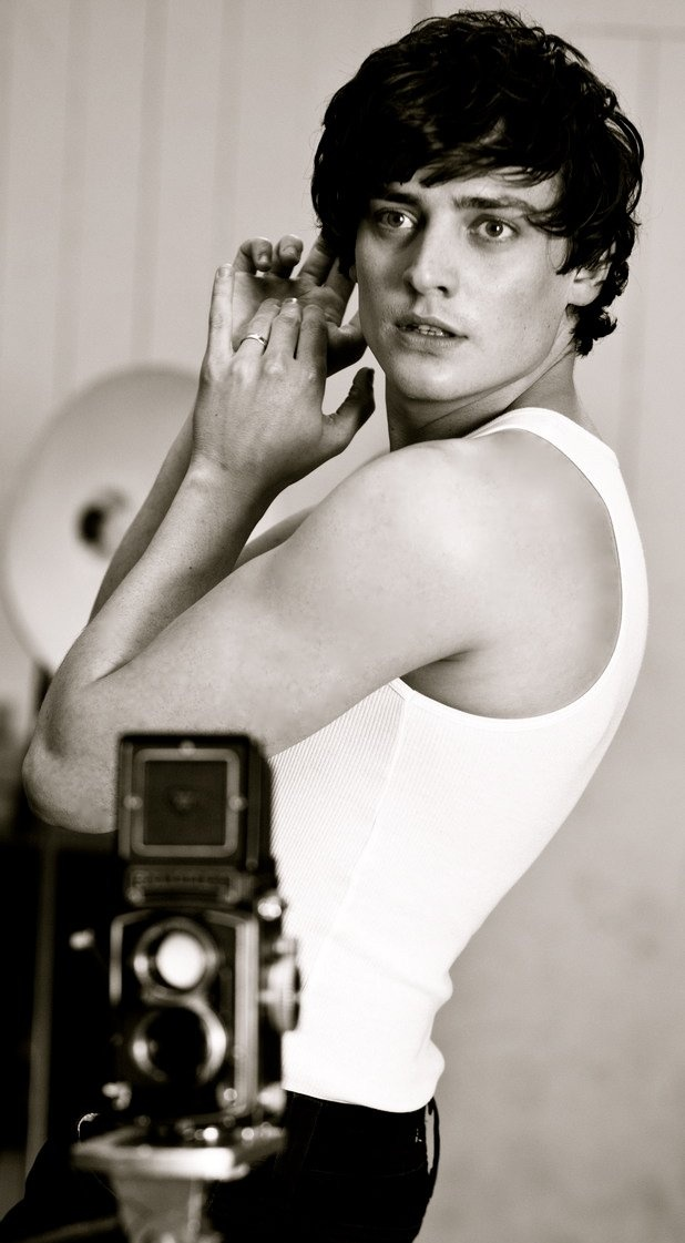 Welsh actor Aneurin Barnard in black and white - as photographer David Bailey in 'We'll Take Manhattan'