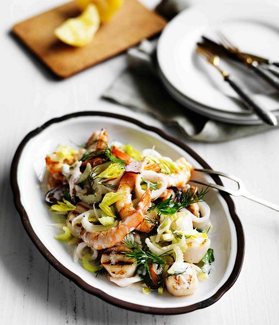 delicious fresh seafood with lemon dressing | insalata di mare | gourmet traveller
