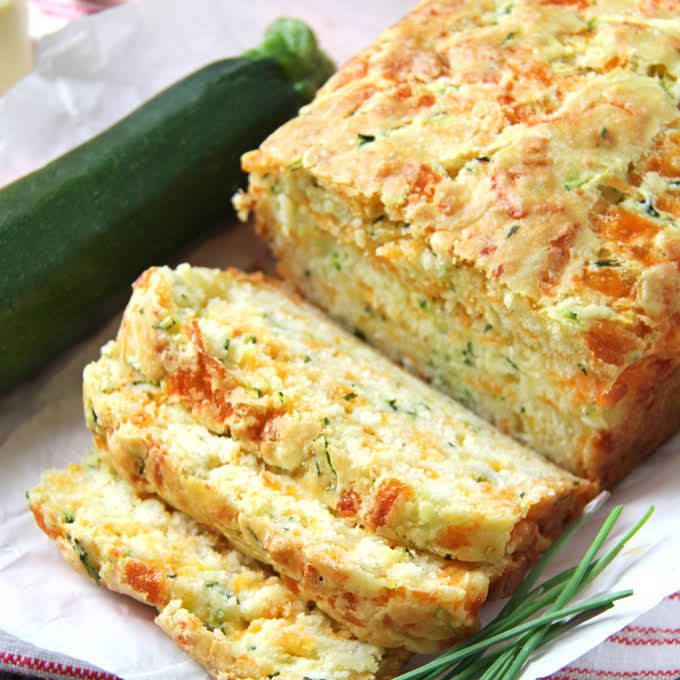 Zucchini Cheddar Cheese Chive Buttermilk Quick Bread Recipe Yummly Recipe Zucchini Cheddar Quick Bread Air Fryer Recipes Healthy