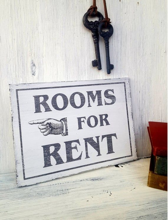 Rooms For Rent Retro Inspired Wood Sign Vintage Style Etsy Rooms For Rent Travel Themed Room Retro Inspired