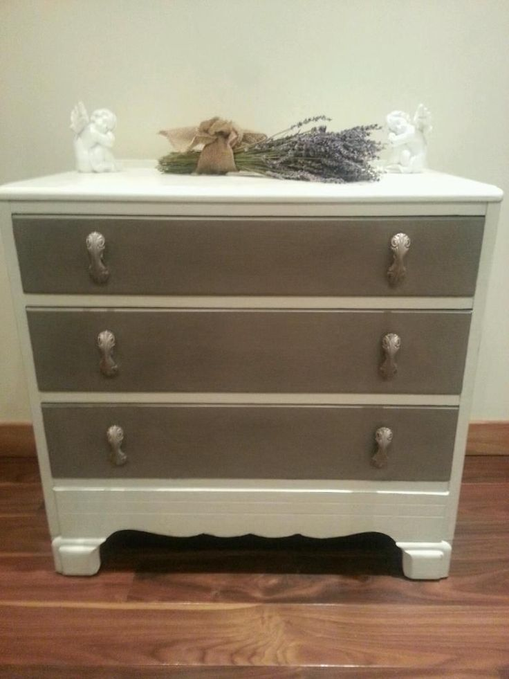 Beautiful hand painted solid oak chest of drawers transformed by painting in Annie Sloan French Linen and Old White and treated with several coats of wax for protection. For sale £100 Scotland, Edinburgh and Fife region.Colourmefurniture
