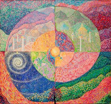 "Saatchi Art Artist Lola Lonli; Painting, ""Map of Shambala"" #art"
