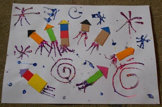 James Arts and Crafts Blog: Children's Bonfire Night Collage