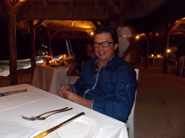 honeymoon dinner on the beach