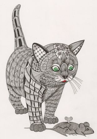 find this pin and more on cat coloring pages