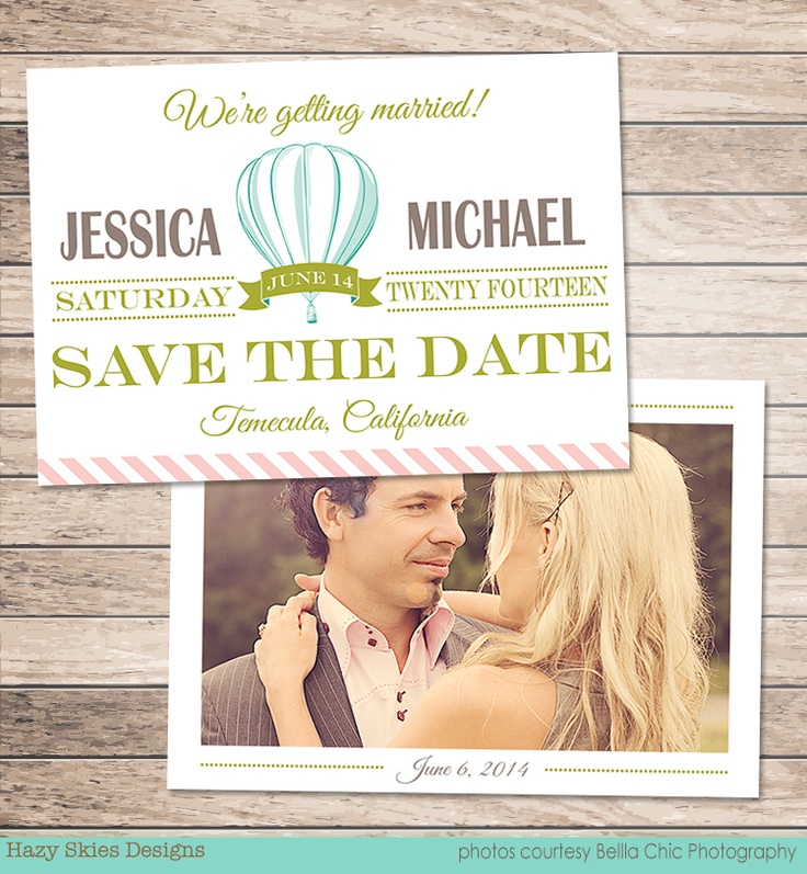 Save the date card template for photographers diy for Save the date psd