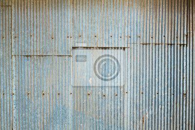 Papier peint Grunge ondulé feuille de zinc