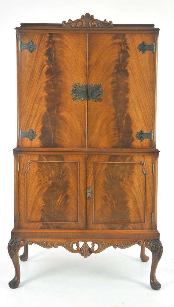 Antique Drink Cabinet, Vintage Dry Bar, Walnut, Cocktail Cabinet,  Scotland,B1053 - Antique Drink Cabinet, Vintage Dry Bar, Walnut, Cocktail Cabinet