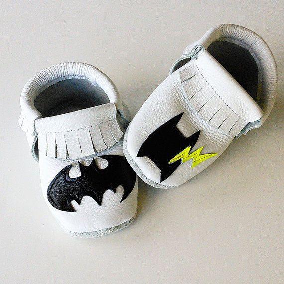 BATMAN MOCCASINS Superhero Moccs Baby/Toddler Shoes by MMfeet