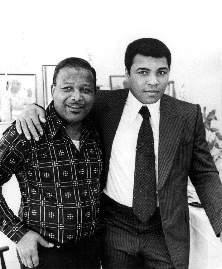 Sugar Ray Robinson and Muhammad Ali. Photo by Howard Bingham.