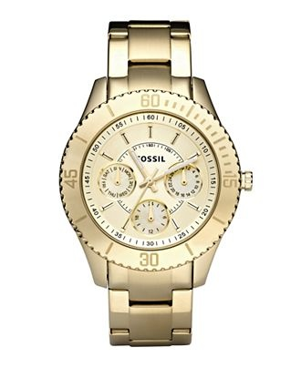 Fossil Gold Watch - very similar to the Michael Kors watch I want.. With a much smaller price tag! :)