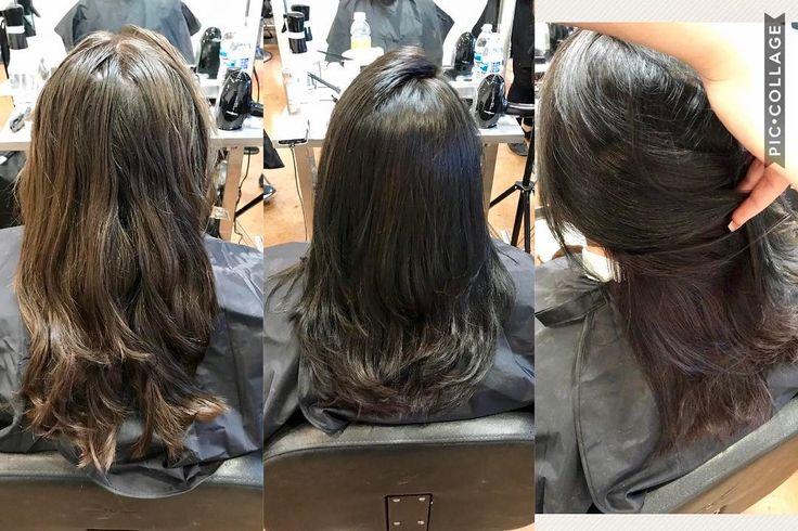 Color correction. Deep purple under color and a cute little hair cut. #colorcorrection #undercolor #purple #wellacolor #kolestonperfect #hair #haircut #blowdry #shampooblowdry #ogleschool #oglesanantonio #hairstyling #cosmetologyschool #cosmetology http://tipsrazzi.com/ipost/1508295564974346386/?code=BTuitM2l9CS