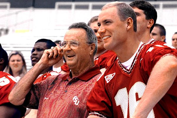 Florida State's Bobby Bowden and Chris Weinke