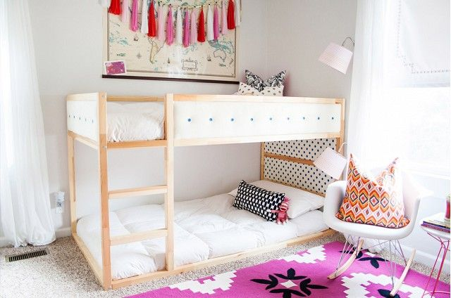 An Upholstered Bunk Bed