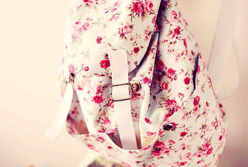 Nostalgic Floral Print Backpack