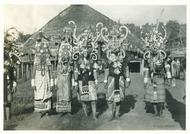 Dayak's Indonesia Wearing Ceremonial Masks #indonesia #dayak