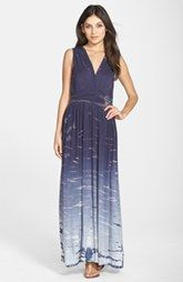 Fraiche by J Tie Dye Ombré Jersey Maxi Dress