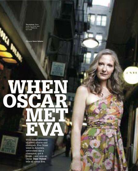 Eva Orner - Academy Award winning producer. Director of Chasing Asylum documentary. Profile by Dani Valent