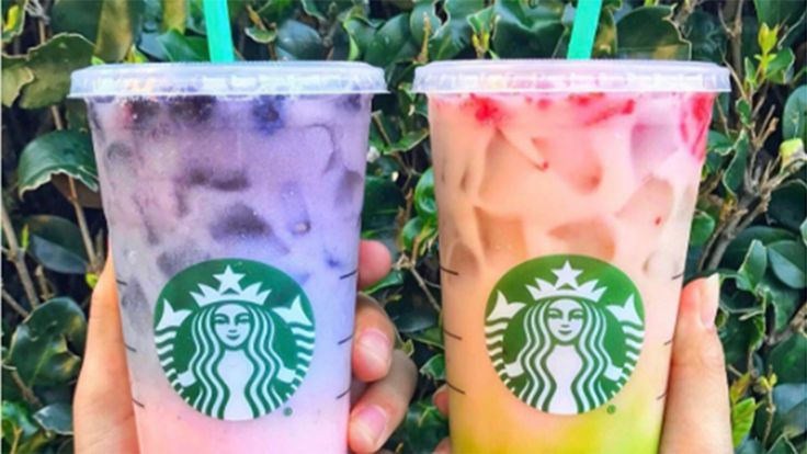 The latest rainbow drinks on Starbucks' secret menu are going viral on social media and are almost too pretty to drink — we said ALMOST.