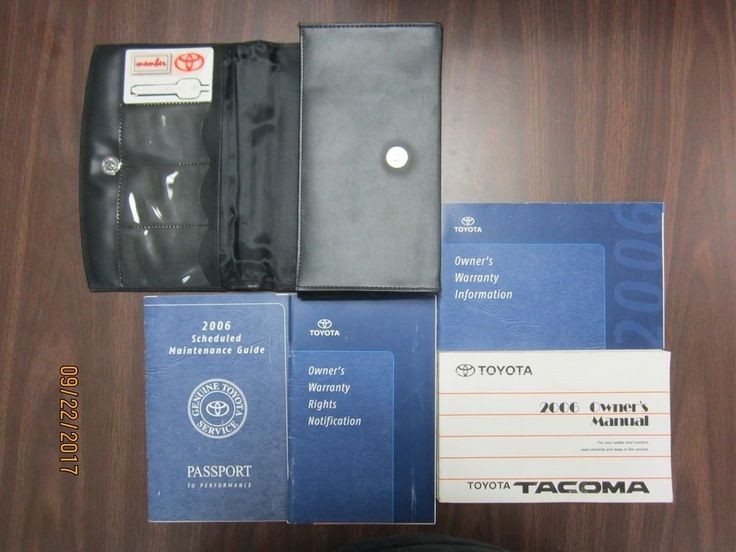 2006 Toyota Tacoma Owners Manual MANUALS BOOKS BOOK with CASE
