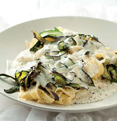 Baby Marrow And Cremezola Pasta Is A Really Simple Light Meal Made From Scratch In