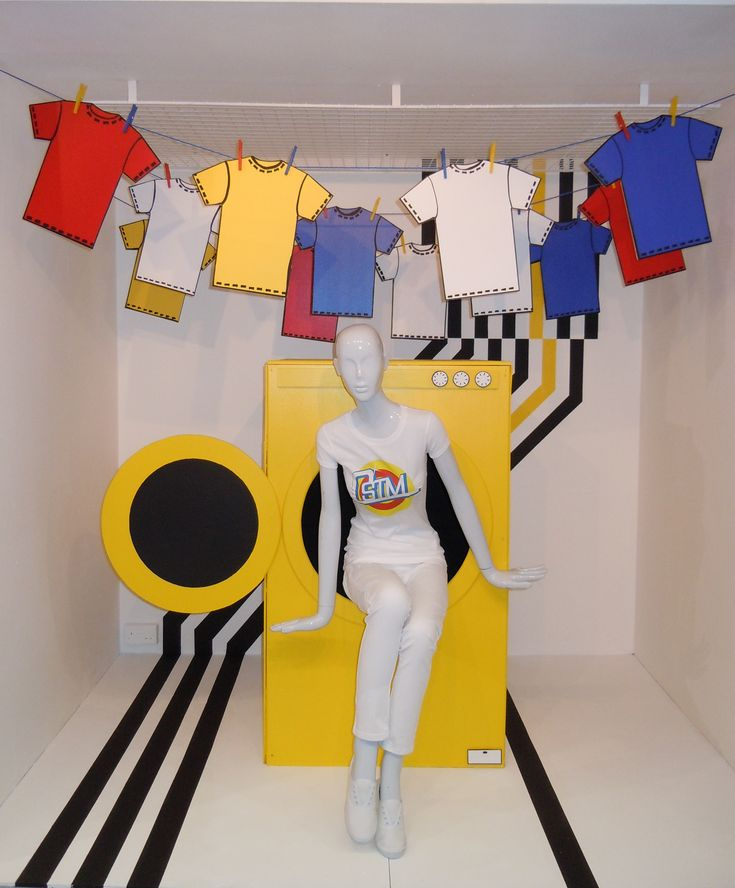 Laundry related window display