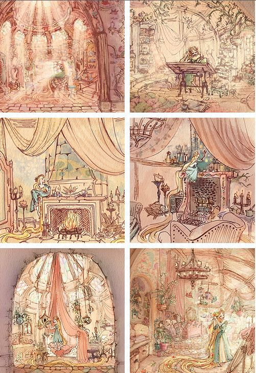 Tangled (2010) concept art © by Claire Keane