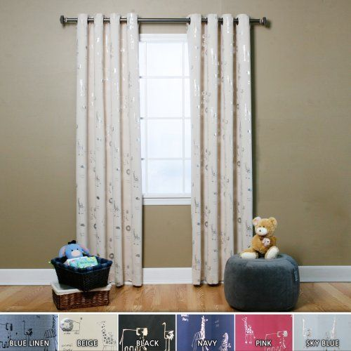 "Animal Print Grommet Curtain 84"" L- Beige - GT - NewArrivals by Best Home Fashion. Save 13 Off!. $64.99. Darken any room at any time of the day, blocks out sunlight and street lights. Measurement : Each panel measures 52"" W x 84"" L 