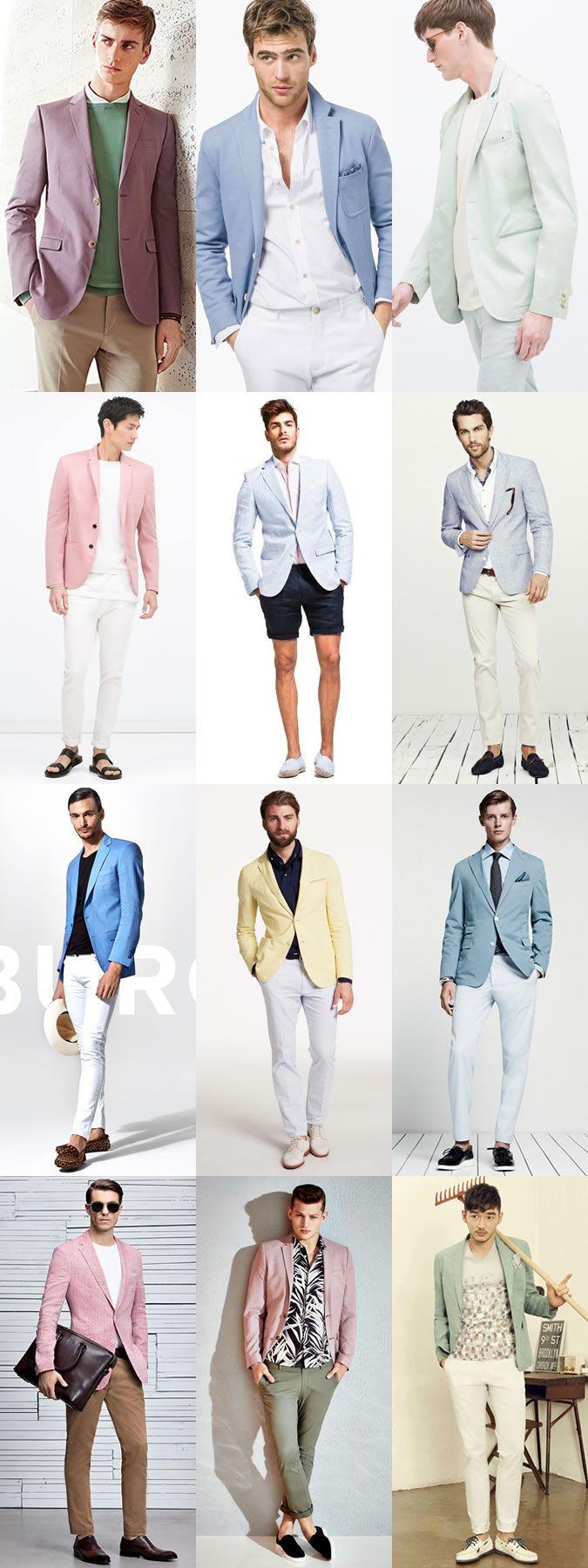 Key Mens Blazers for 2015 Spring/Summer: The Pastel Blazer Lookbook Inspiration