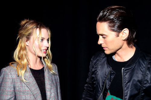"Margot Robbie and Jared Leto attend CinemaCon 2016 Warner Bros. Pictures Invites You to ""The Big Picture"", on April 12, 2016 in Las Vegas, Nevada."