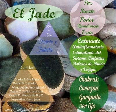 El Jade, Tipos, Calidades y Usos - Club Salud Natural #gemas #minerales #salud