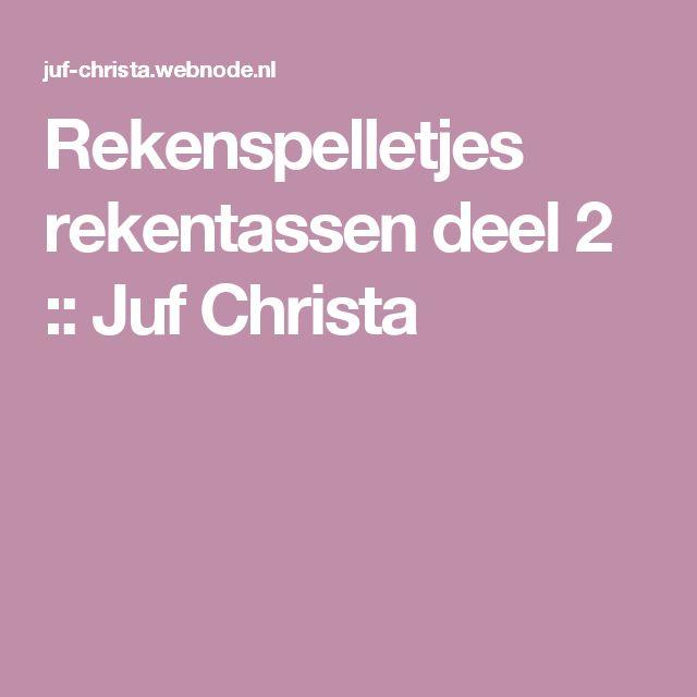 Rekenspelletjes rekentassen deel 2 :: Juf Christa