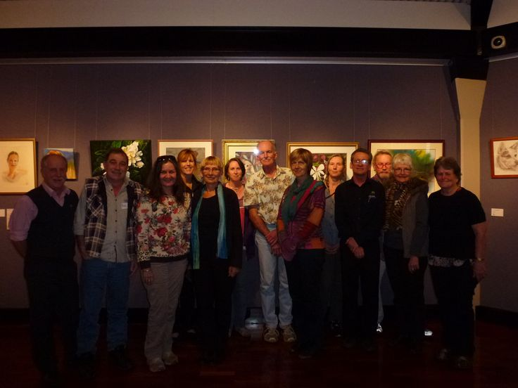Workshop with Chris Stannard from the Tanks Art Centre Cairns with the Tableland Regional Gallery Assistant Hanging team