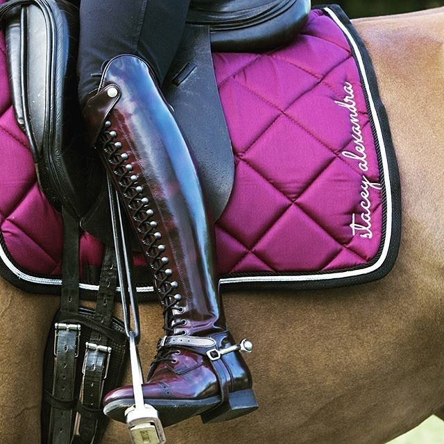Polished bordeaux Bia boots looking super stunning with the pretty pink saddle…