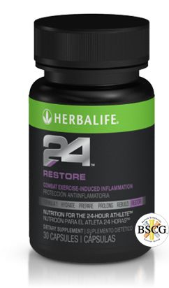 Herbalife24 RESTORE: Combats exercise-induced inflammation.  Key Benefits:     - Curcumin helps combat exercise-induced inflammation    - Elderberry and Saberry™✝ (an extract from amla fruit) and scavenge free radicals    - Vitamin C and beta carotene support immune function    ORDER NOW and FEEL THE DIFFERENCE!> https://www.goherbalife.com/goherb/