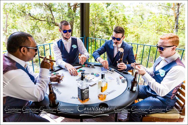 Brendan and his Groomsmen enjoying a bit of fun on his wedding day :)