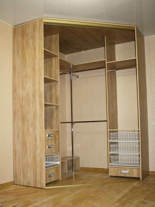 угловая гардеробная в спальне фото дизайн 1