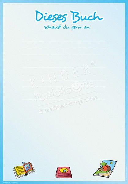 Dieses Buch schaust du gern an – Portfoliovorlage