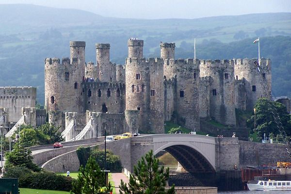 "Conwy Castle. Wales. Conwy is one of the most prominent fortresses built by Edward I in the 13th century. It is one of the key castles of the king's ""iron ring"" of fortresses constructed in Wales. The most costly castle in the Welsh history. Today Conwy is declared a World Heritage Site and its eight towers, overlooking the Conwy estuary, are the iconic image of North Wales."