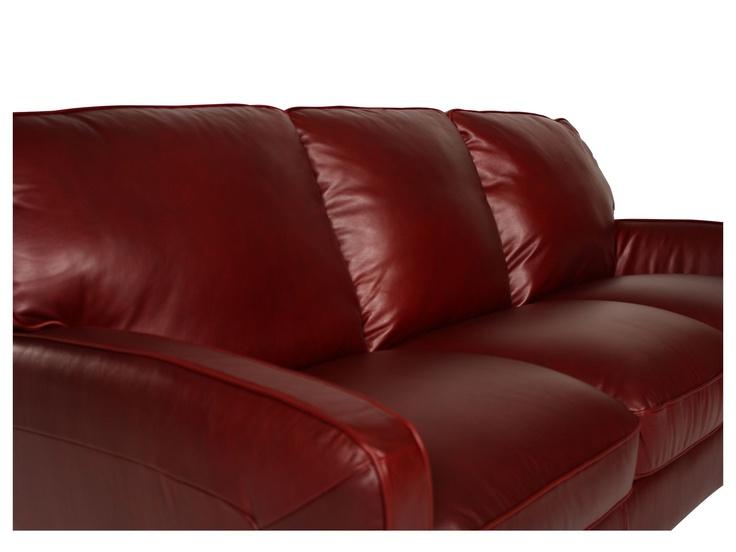Natuzzi Deep Red Leather Sofa Shades Of Grey Room