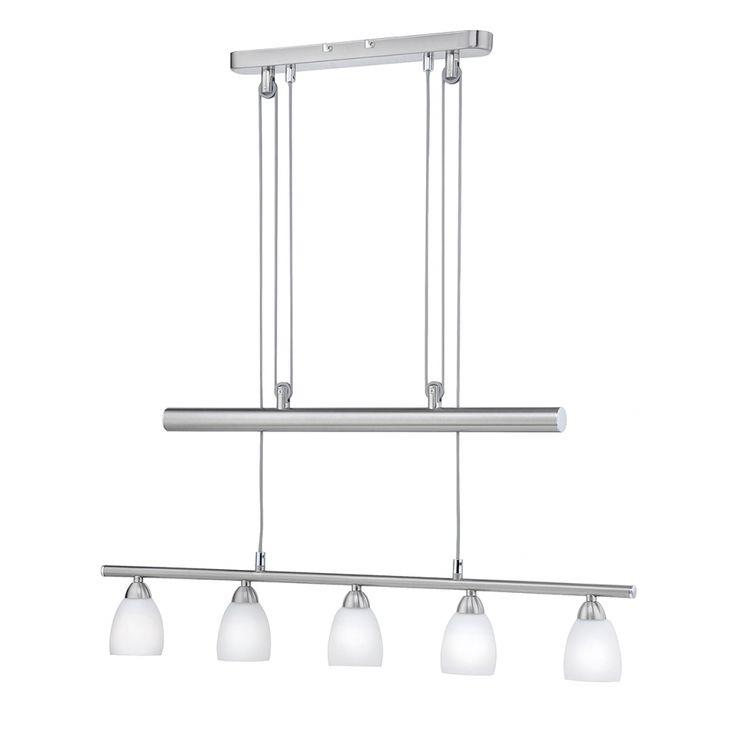 Lampada a sospensione Lovas Led by Leuchten Direkt - Ferro/Acciaio Color argento 5 luci