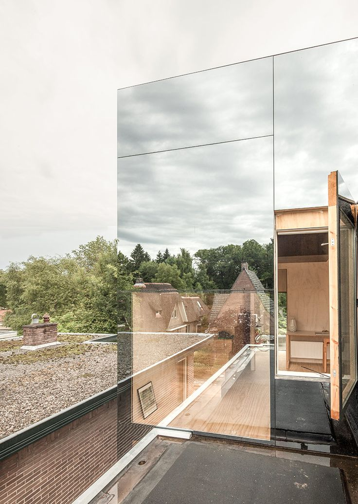 Tiny home on a roof serves 'treehouse' vibes - Curbedclockmenumore-arrow : The interior is all homey plywood
