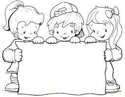 Resultado de imagen para imagenes de niños para colorear