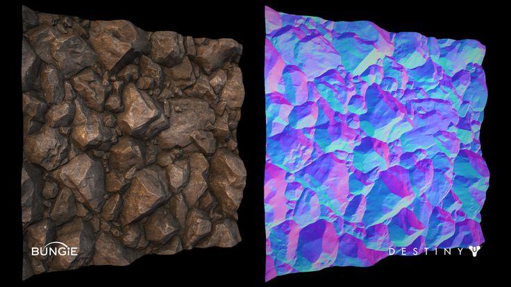 Destiny - Rock Debris 4-Way Tiling Texture, Ethan Scheu on ArtStation at https://www.artstation.com/artwork/destiny-rock-debris-4-way-tiling-texture